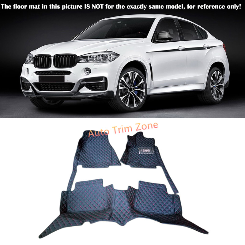 Interior Floor Mats & Carpets Foot Pads For BMW X6 F16 2015 - 2016