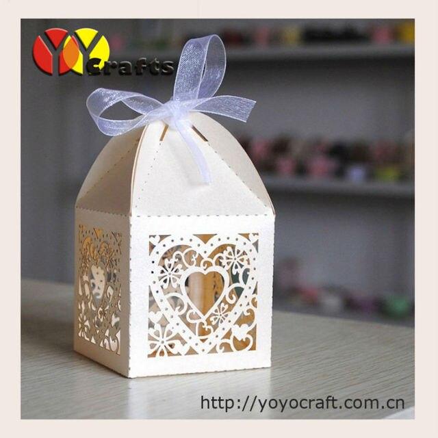 50pcs Lot Wedding Souvenirs Elephant Gift Box Laser Cut Wedding Cake