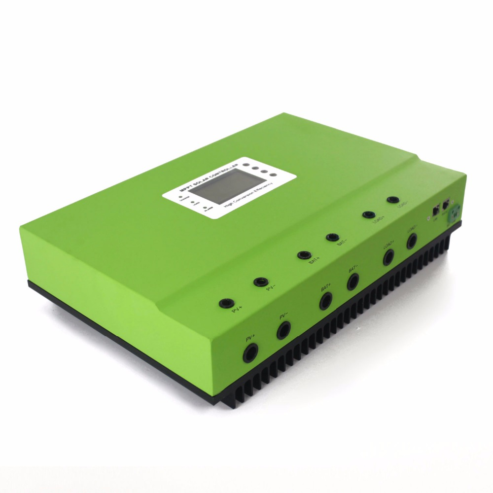 12V 24V 36V 48V Auto 80A MPPT Solar Controller Self-cooling Solar Charge Controller with LCD and RS232 LAN communication ports 12v 24v 36v 48v 70a mppt solar controller for max 150v lcd solar regulator with heatsink cooling rs485 communication port new