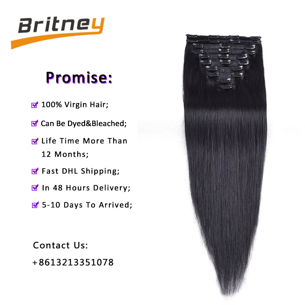 Clip in human hair extensions (5)