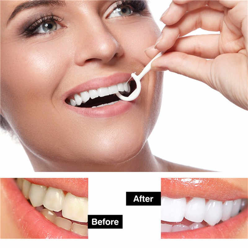 Dental Flosser Lisan Kebersihan Gigi Tongkat Gigi Air Benang Oral Gigi Memilih Tusuk Gigi ABS Benang dengan Portable Case 75 PCS/Tas