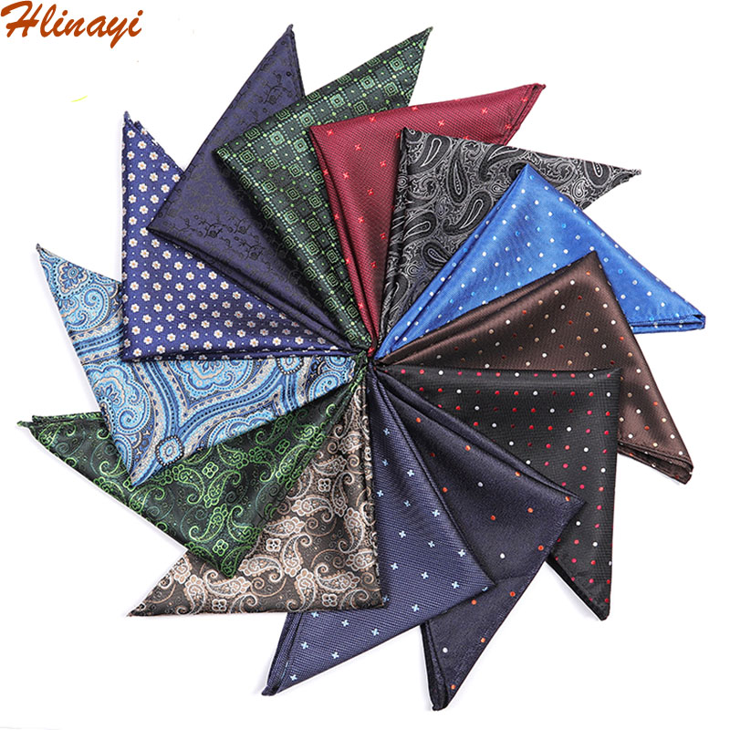 Hlinayi 2019 Men's Pocket Towel Hot Sales Of Small Square Kerchief Cashew Flower Dot Pattern Chest Kerchief Handkerchief Towel