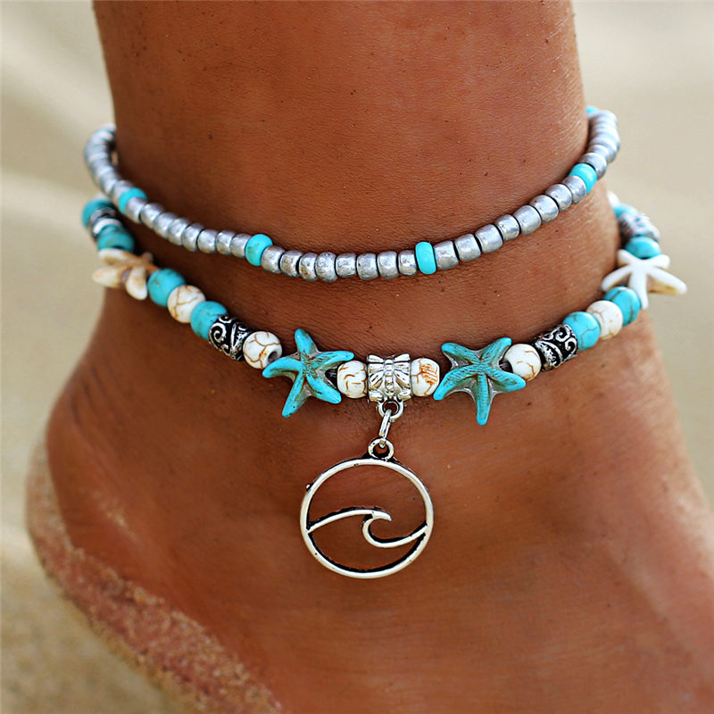 IF-ME-Bohemian-Multiple-Layers-Starfish-Wave-Beads-Anklets-for-Women-Vintage-Leg-Ankle-Anklet-Charms (1)