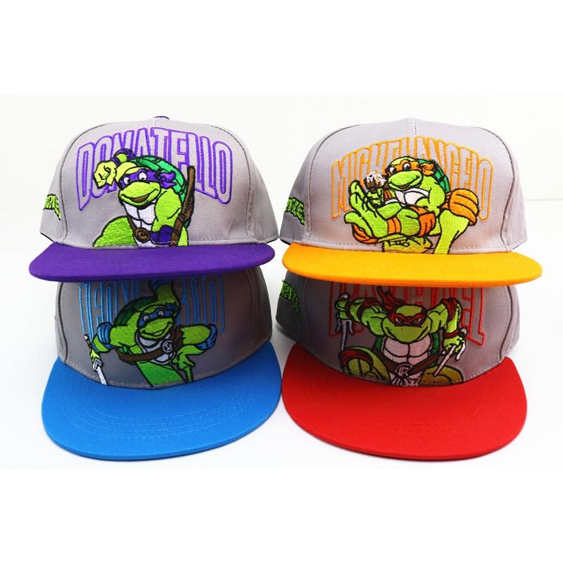 Children's Baseball Caps Fashion Cartoon Turtle Spider Hero Boy Hat Girl Hat Warm Childhood Baseball Hat For Kids Hip-hop Cap