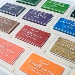 1 шт. 15 видов цветов Большой Чернила pad масло планировщик для скрапбукинга Силиконовая печать DIY Дневник поздравительная карточка из