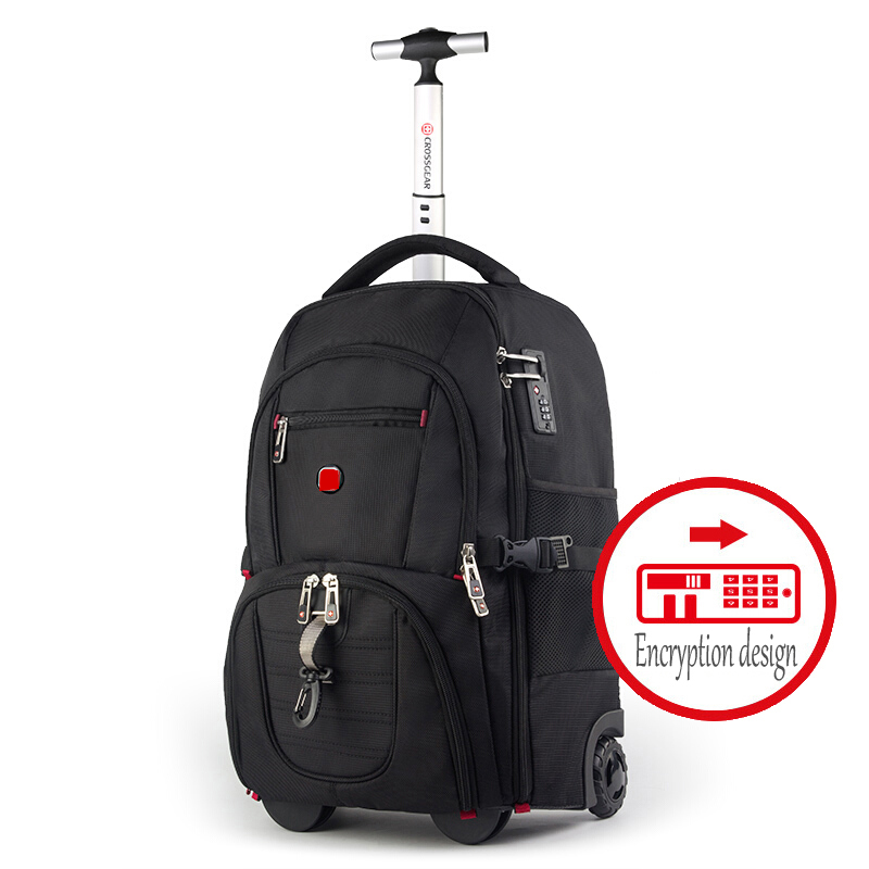New Fashion Multifunction Men Business Rolling Luggage Boarding Box vs Trolley Travel Bag boy Suitcase Trunk backpack carry on-in Carry-Ons from Luggage & Bags    1
