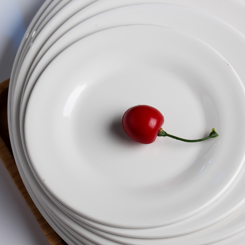15 28CM Thick Melamine Plastic Plates Hotel Flat Plates Round Fruit Dish Tray Plain White A5 high grade Tableware Dinner Service-in Dishes \u0026 Plates from ... & 15 28CM Thick Melamine Plastic Plates Hotel Flat Plates Round Fruit ...