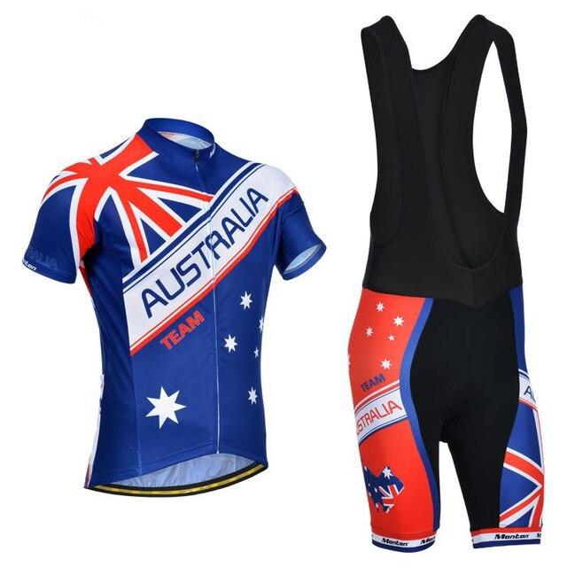 2016 Australia national flag blue edition bike cycling jerseys movement  shirt summer bicycle clothing ropa ciclismo ae7603cc1