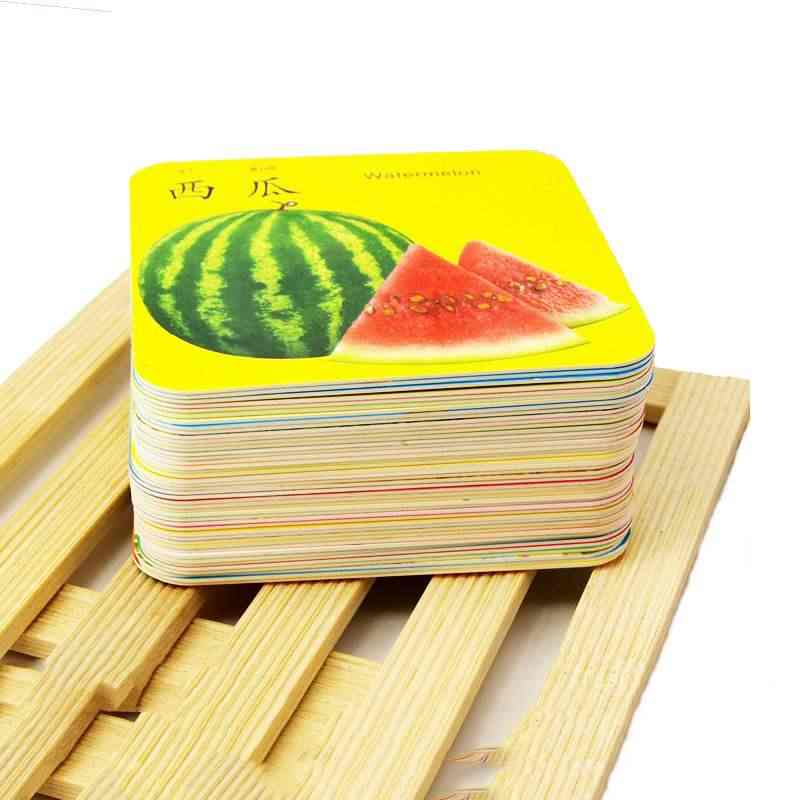 Children Learning Books Chinese English Learning Cards 3 To 6 Year-olds Baby Early Learning Reading Cards Literacy Cards