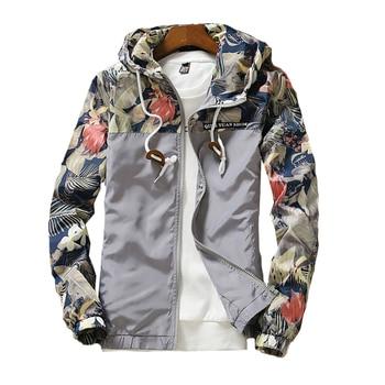 Lightweight Floral Bomber Zipper Jacket 3
