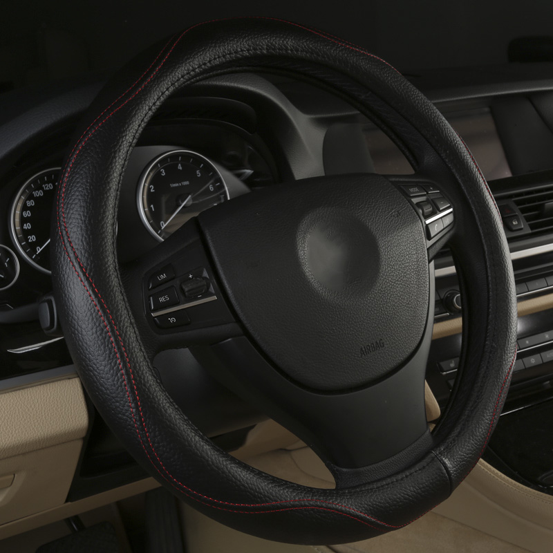 Black Beige Brown Gray car steering wheel cover for Suzuki Jimny Grand Vitara Kizashi Swift SX4 Alto Stingray Auto Accessories