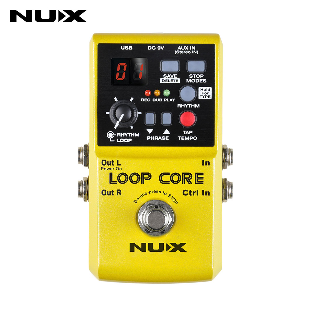NUX Loop Core Guitar Effects Pedal Looper Pedals Looping Station 6 Hours Recording Time Built-in Drum Patterns Free shipping nux mg 20 electric guitar multi effects pedal guitarra modeling processor with drum machine eu plug
