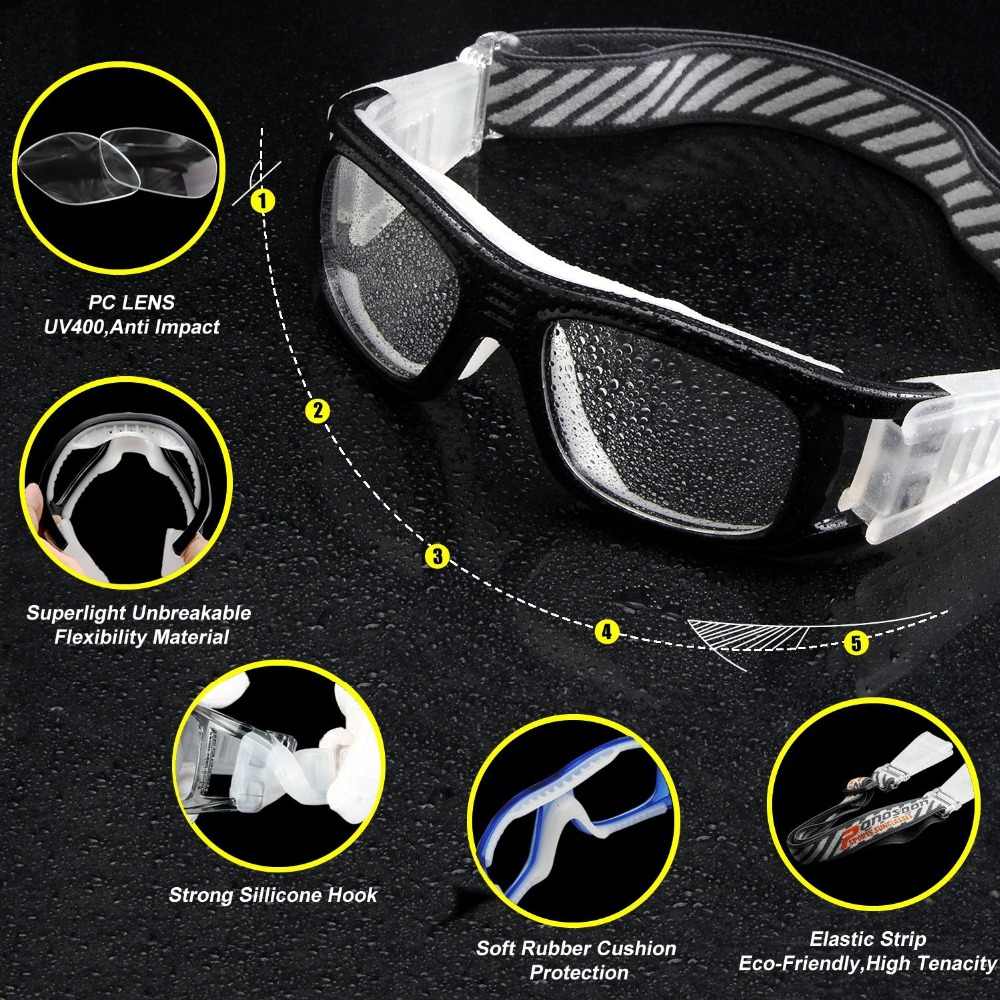 4994c174d97a 2018 Protective Men s Sports Goggles Eyewear Glasses for Adult Basketball  Football Soccer Hockey Rugby Tag Dribble eyeglasses-in Sunglasses from  Apparel ...