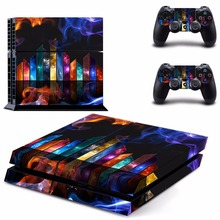 New music  Decal PS4 Skin Sticker For Sony Playstation 4 PS4 Console +2Pcs Controller protective