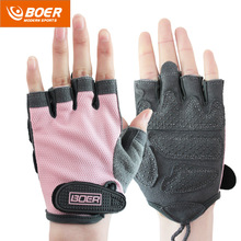 2016 gym gloves men women body building fingerless fitness glove anti slip weight lifting sport training half finger