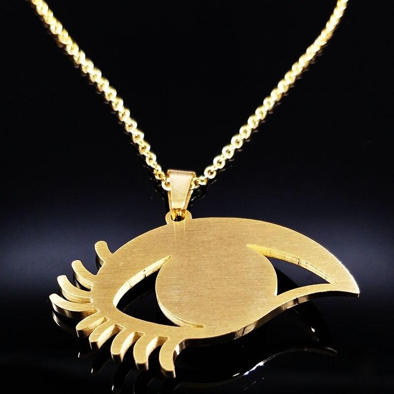 2017 Evil Eye Stainless Steel Jewelery Costume Necklace Earrings Women Jewelry Big Blue Eye Jewellery Gift ojo turco S178185B