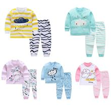 2pcs/set Children Boys Girls Soft Cotton Home Wear Set Tops + Pants