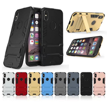 Armor Iron Man Case For iphone X 5 5s SE 6 6s 7 8 Plus Case Ultra Thin Shockproof Rubber Coque Cover Back With Holder Stand ases цена 2017