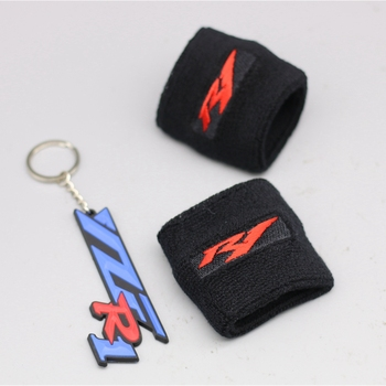 Red R1 Logo Motorcycle Brake Clutch Reservoir Socks For Yamaha YZF R1 YZF-R1 1999-2001 2002-2003 2004-2008 2009-2014 red white motorcycle 3d r1 front brake fluid oil reservoir cover protector for yamaha yzf r1 1000 yzf r1 yzfr1 reservoir sock