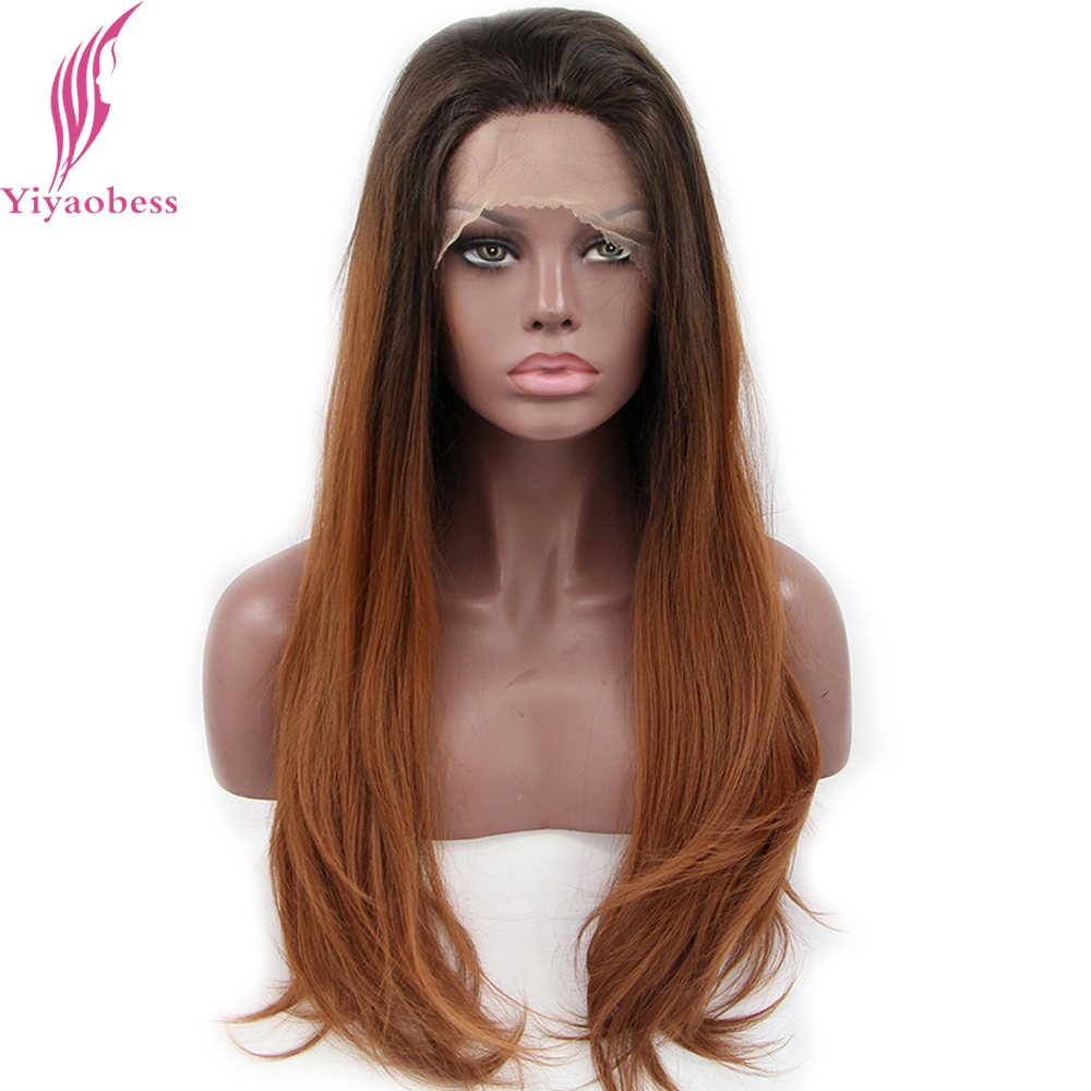 Yiyaobess Synthetic Lace Front Wigs Women Heat