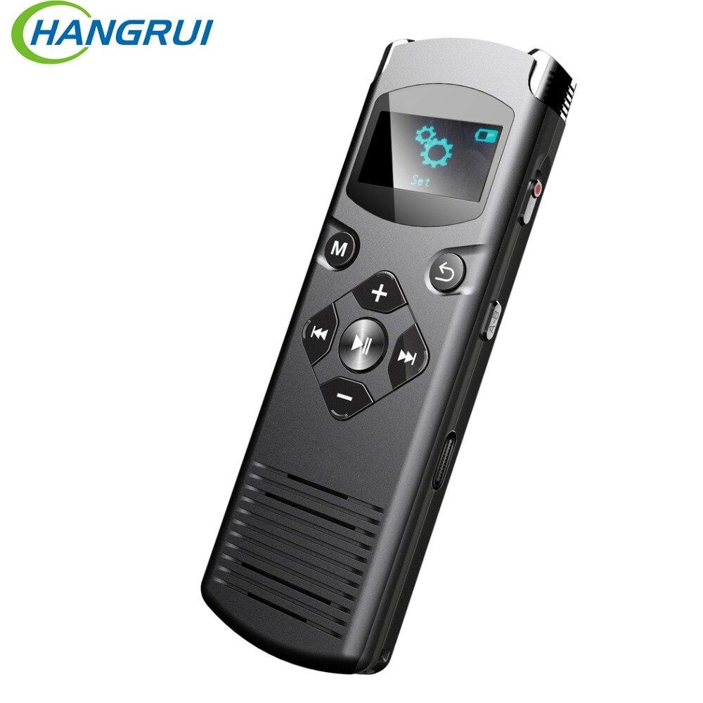 Hangrui Portable enregistreur vocal numérique stylo réduction du bruit stéréo enregistrement Audio Portable pour Interview reflex enregistrement USB type-c