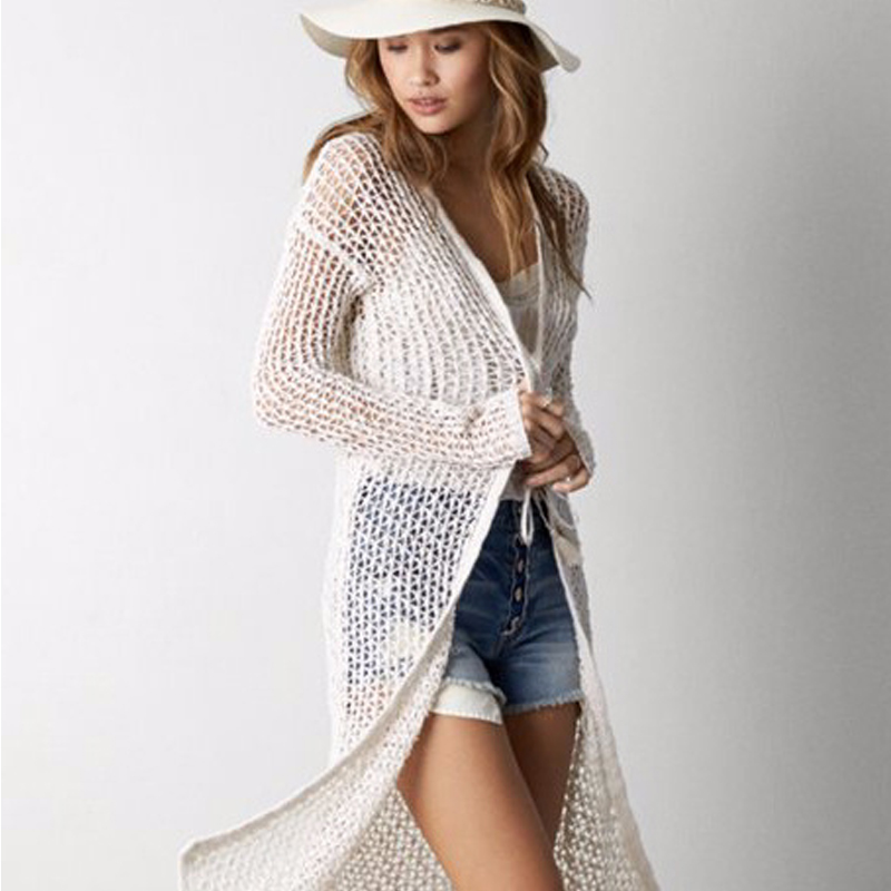 2015 summer autumn fashion long cardigan knitwear Casual Outerwear ...
