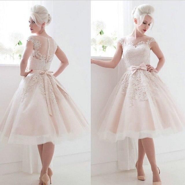 Hermosa 1950 Vestidos De Boda De La Longitud Del Té Ideas Ornamento ...