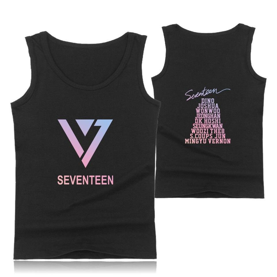 SEVENTEEN Tank Tops Style Kpop Short Sleeve Fashion Cotton T-Shirts Hip Hop And Cool T-shirts Big Size XXS To 4XL