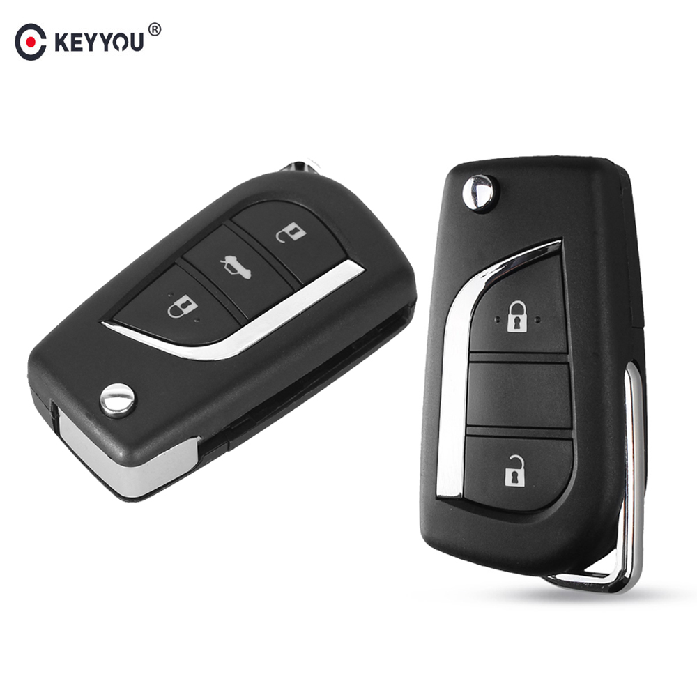 KEYYOU Remote-Key-Shell Flip Levin Highlander Folding 3-Buttons Corolla Toyota Toy43
