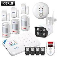 KERUI WI8 WIFI GSM Burglar Security Alarm System APP Metal Control Gas And Somke Detector Alarm