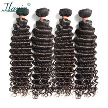 "ILARIA HAIR Mink 8A Brazilian Curly Virgin Hair Deep Wave 4 Bundles 10""-30"" Unprocessed Curly Human Hair Weave Full Bundles(China)"