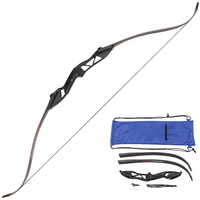 Cheap Recurve Bows 35 lbs Wooden Longbow Recurve Bows Arrows Hunting Outdoor Sports