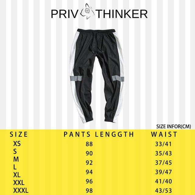 Privathinker Side Stripe Track Jogger Pants Men 2020 Reflective Label Track Harem Pants Homme Streetwear Male HipHop 56