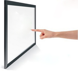Hot sell 42 6 points Aluminium Alloy multi touch panel overlays IR touch screen, plug and play