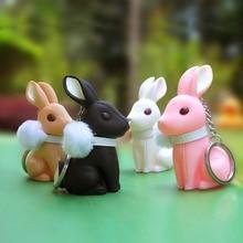 Semk kanin nyckelkedja PVC Vincyl docka Rob.B Anime Figurines Trinket kanin nyckel hållare för bil söt gåva för tjejer och kvinna