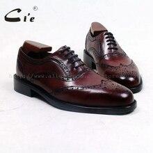Cie круглый носок на заказ ручной работы до середины икры натуральная кожаная подошва дышащий работы и карьера Для мужчин обуви оксфорды глубокий винный OX508