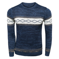 2017 New Men Casual O Neck Pullover Christmas Sweater Mens Knitted Sweaters Vintage Jumpers Winter Autumn