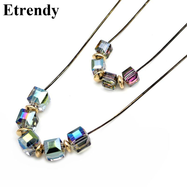 Double layers crystal beads long necklace women new fashion jewelry double layers crystal beads long necklace women new fashion jewelry necklaces pendants wholesale christmas gifts aloadofball Gallery