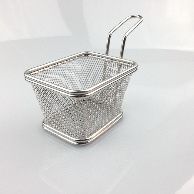 Chips Mini Fry Baskets stainless steel utensils Serving Food