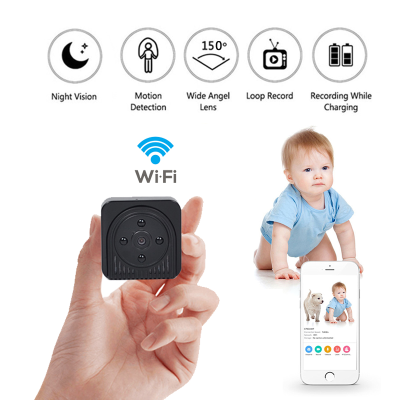 все цены на Wifi IP Mini Camera Wireless HD 1080P Infrared Micro camcorders IR Night Vision Portable Recorder Magnetic Motion MINI cam онлайн