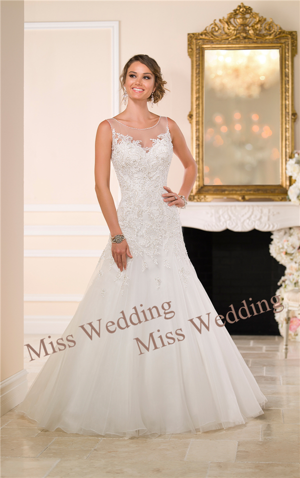 Miss Wedding Glamorous Sexy Extravagant Silver Lace Over