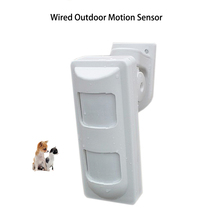3Tech Wired Outdoor Waterproof Alarm Motion Detectors Pet Immune/Wide Angle/Curtain PIR Detector for House Alarm Security System