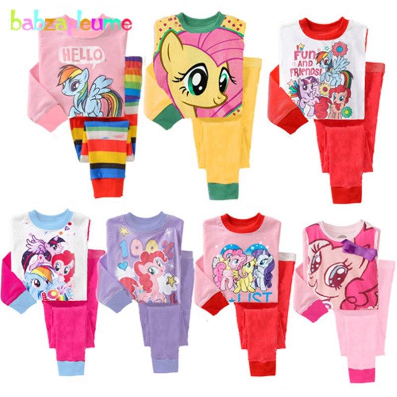 ee5ab2ad1c2c7 1-5Year/Bahar Sonbahar Yürümeye Başlayan Kız Eşofman Çocuk Pijama Giysi  Bebek Erkek Karikatür Uzun Kollu Üst + Pantolon 2 adet çocuk set BC1151