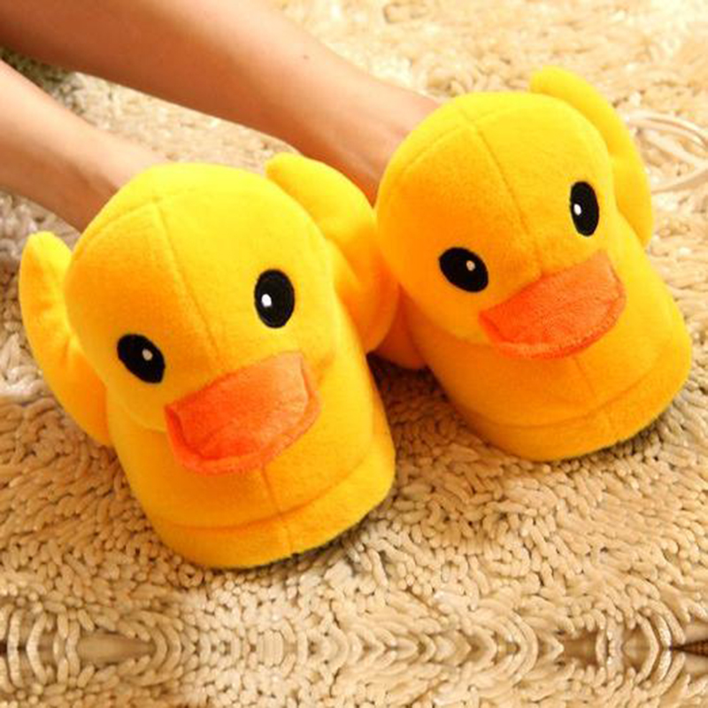 Cute Animal Yellow Duck Winter Home Mujer Shoes Men Floor Indoor Pantufas Chinelo Masculino Pantofole Donna House Slipper Women new lvpai fashion 2017 luxury rhinestone watches women stainless steel quartz watch for ladies dress watch gold bracelet clock