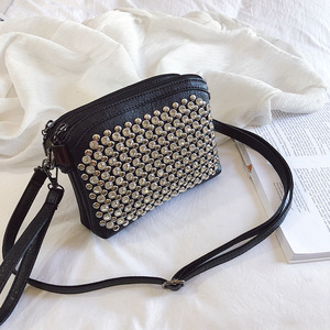 Image 1 - 2019 fashion upstart sequin square bag high quality PU leather womenswear designer luxury handbag single shoulder bag qq246