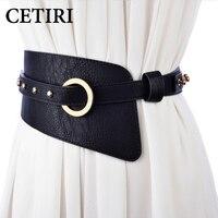 69f9af50baba5 Plus Size Wide Elastic Cinch Belt Women S Rocker Fashion Belt Gold Metal  Rivet Wide Belts