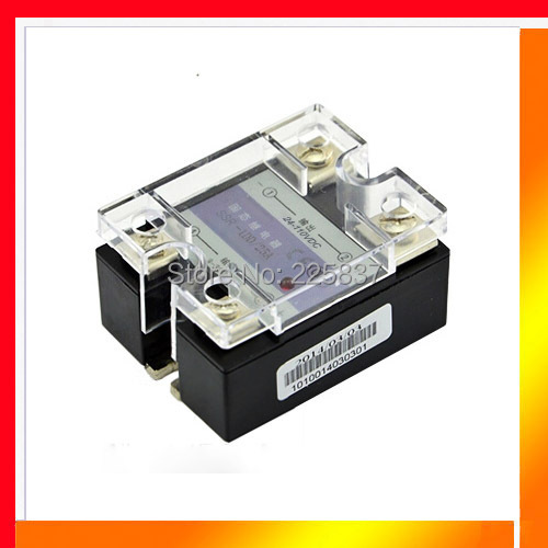 Free shipping (2Pieces/Lot) SSR-25DD JGX-25F 25A single phase 3-32vDC to 5-220vDC dc dc solid state relay, ssr, relay normally open single phase solid state relay ssr mgr 1 d48120 120a control dc ac 24 480v