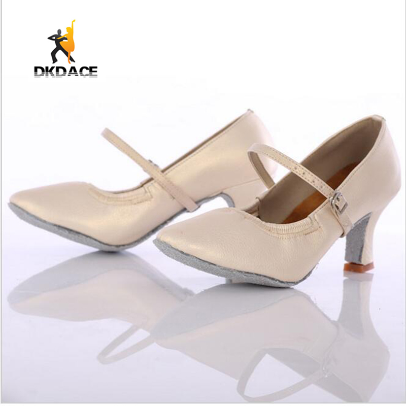נעלי ריקוד - Women Girl s shoe s Shoes Ballroom Tango Salsa Latin Dance  Shoes For Women Girls Ladies Modern Leatherette Four Colors Wholesale 3ef58c5ca387