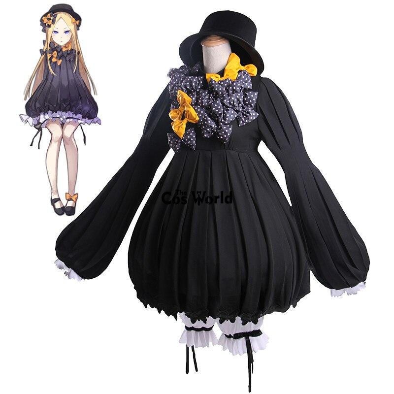 FGO Fate Grand Order Foreigner Abigail Williams Lolita Pumpkin Dress Uniform Anime Cosplay Costumes