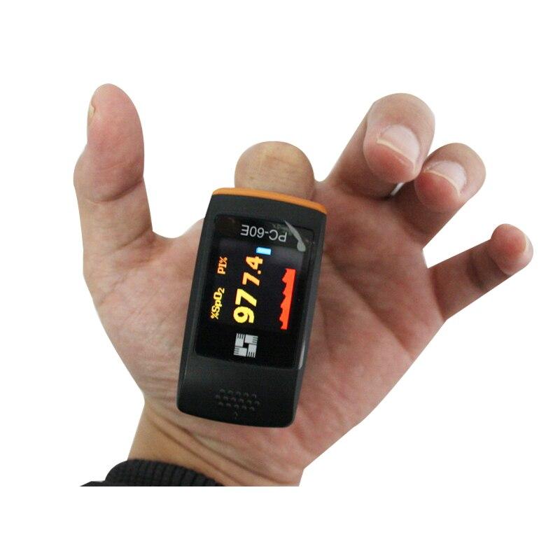 PC 60E Hot Sale Health care OLED Finger Pulse Oximeter Blood Oxygen SpO2 Saturation Oximetro Monitor